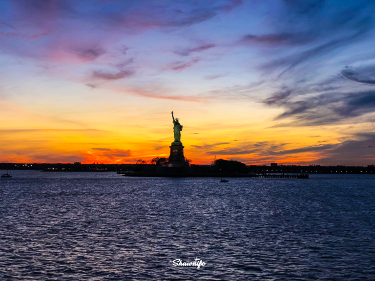 Statue of Liberty at sunset | Shawnife Lifestyle and Travels