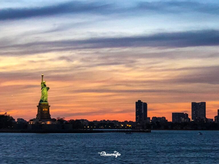 Statue of Liberty at sunset |Shawnife Lifestyle and Travels